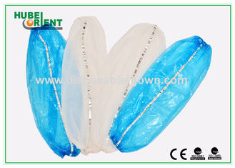 Food Industry Disposable Plastic Arm Sleeves with Tacking Thread